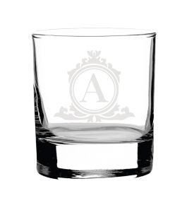 Personalised Whiskey Glass -Lux118_Initial