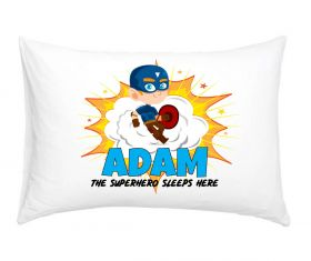 Personalised Superhero Pillowcase - Blue Shield
