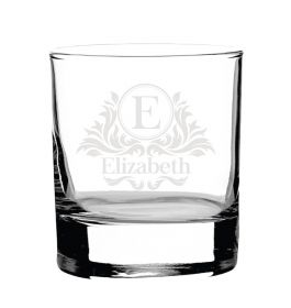 Personalised Whiskey Glass - Lux001_BL