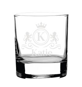 Personalised Whiskey Glass -  Lux0076_LION