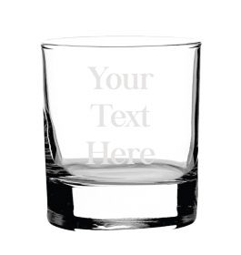 Personalised Whiskey Glass -  Type Your Own