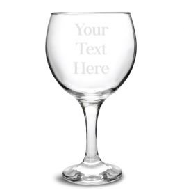 Personalised Gin Glass - Type Your Own