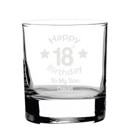 Personalised Whiskey Glass - Bday01#