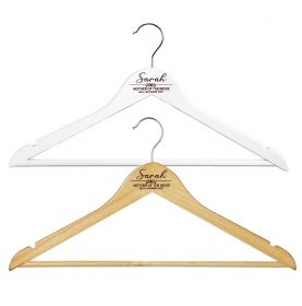 Personalised Wooden Wedding Clothes Hanger - W_element_011