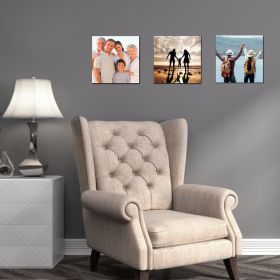 Set of 3 x Square 10in x 10in - Personalised Canvas