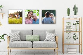 Set of 3 x Square 12in x 12in - Personalised Canvas