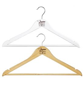 Personalised Wooden Wedding Clothes Hanger - W_Heart_28
