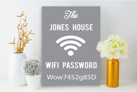 Personalised Wi-Fi Password Family Name Canvas