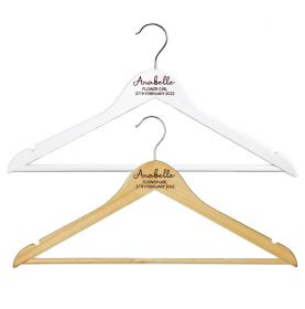 Personalised Wooden Wedding Clothes Hanger - W_LETTERS_053