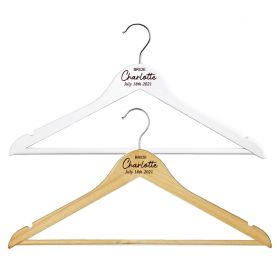 Personalised Wooden Wedding Clothes Hanger - W_TOPW_022