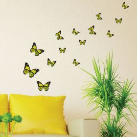 21 x Monarch Butterflies (Yellow)