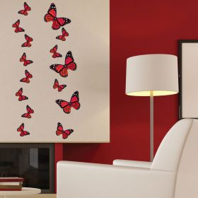 21 x Monarch Butterflies (Red)