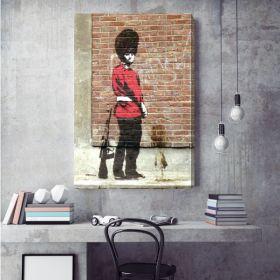 Queen's Guard Banksy Canvas