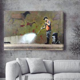Street Cleaner Banksy Canvas