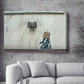 Robot Doodle Banksy Canvas