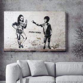 Rude Kids Banksy Canvas