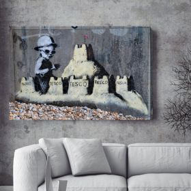 Tesco Sand Castle Banksy Canvas