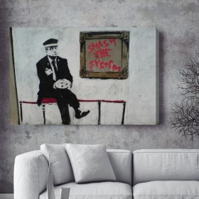 Smash The System Banksy Canvas