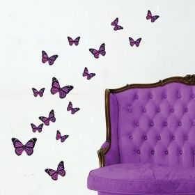 21 x Monarch Butterflies (Purple)