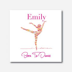 Personalised Kids Room Canvas - Ballet Dancer (Square)