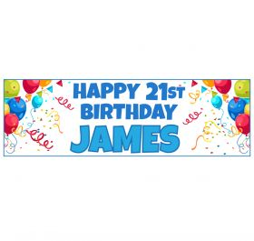 Giant Personalised Birthday Banner - ORC_Blue