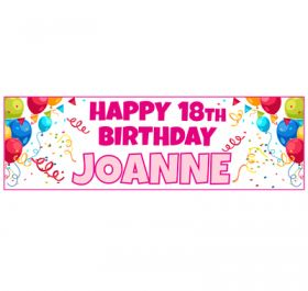 Giant Personalised Birthday Banner - ORC_Pink