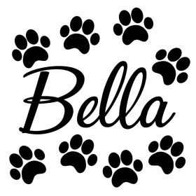 Personalised Name Wall Stickers - Dog Paws