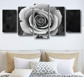 Black & White Rose Canvas (1322 RMC 5 Panel)
