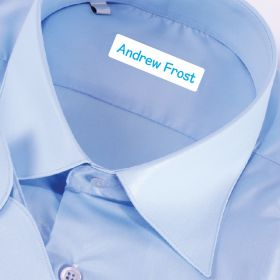 25 x Personalised Iron-on Name Labels - Blue