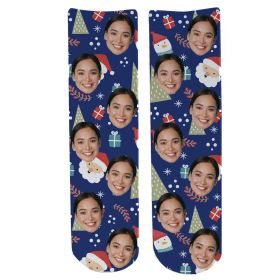 Personalised Christmas Face Socks - Xmas (SPTB_01)
