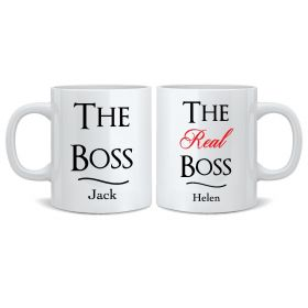 Personalised Wedding Mr & Mrs Mugs - The Boss