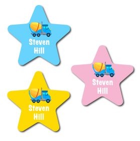 30 Star Truck Name Labels