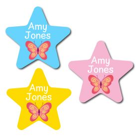 30 Star Butterfly Name Labels