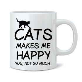 Cats Makes Me Happy Mug