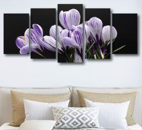 Crocus Flower Canvas (1311 RMC 5 Panel)