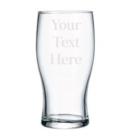 Personalised Pint Beer Glass - Type Your Own