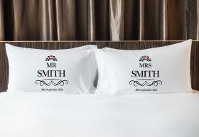 Personalised Mr & Mrs Pillowcase - EL_Heart032