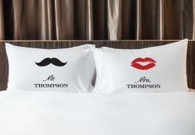 Personalised Mr & Mrs Pillowcase - MST/LIPS