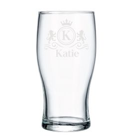 Personalised Pint Beer Glass - Lux0076_LION