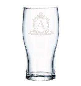 Personalised Pint Beer Glass - Lux118_Initial