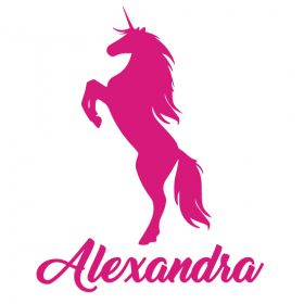 Personalised Name Wall Stickers - Unicorn