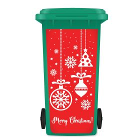 CHRISTMAS WHEELIE BIN STICKER PANEL - Festive Decorations A01