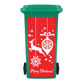 CHRISTMAS WHEELIE BIN STICKER PANEL - Festive Decorations B022