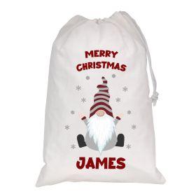 White Christmas Personalised Sack - Gonk (D_2)