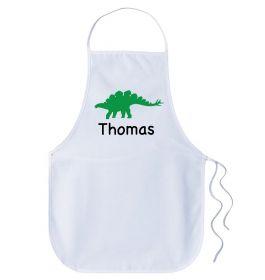 Kids Personalised Name Apron - Dinosaur
