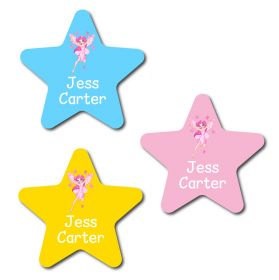 30 Star Fairy Name Labels