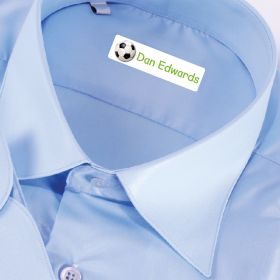 25 x Personalised Iron-on Name Labels - Football