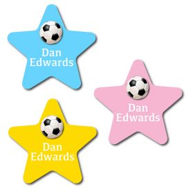 30 Star Football Name Labels