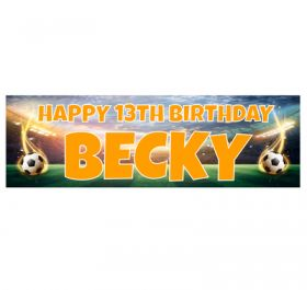 Giant Personalised Birthday Banner - Football