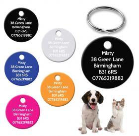 Personalised Engraved Circle Pet Tag - Circle (CC_0876)
